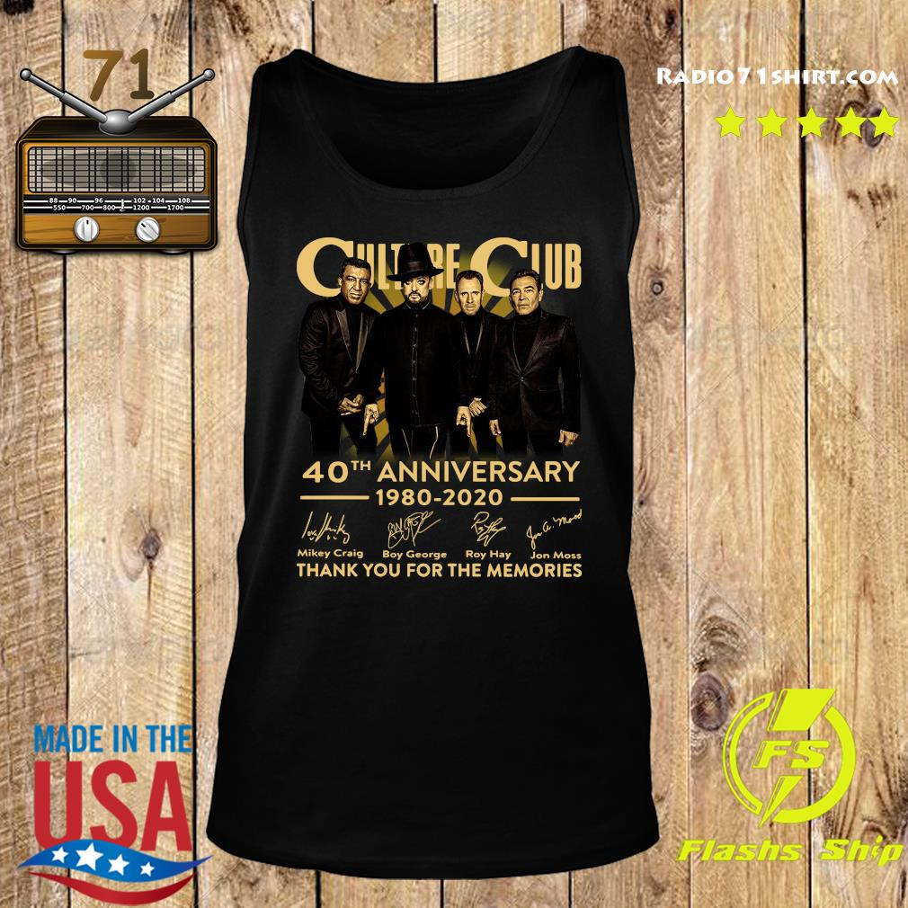 Culture Club 40th Anniversary 1980 2020 Thank You For The Memories Signatures Shirt Tank top