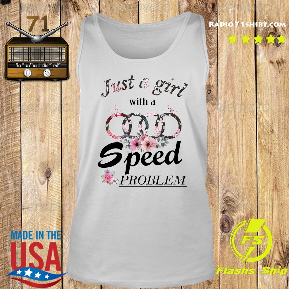 Flower Just A Girl With A Speed Problem Subaru Shirt Tank top