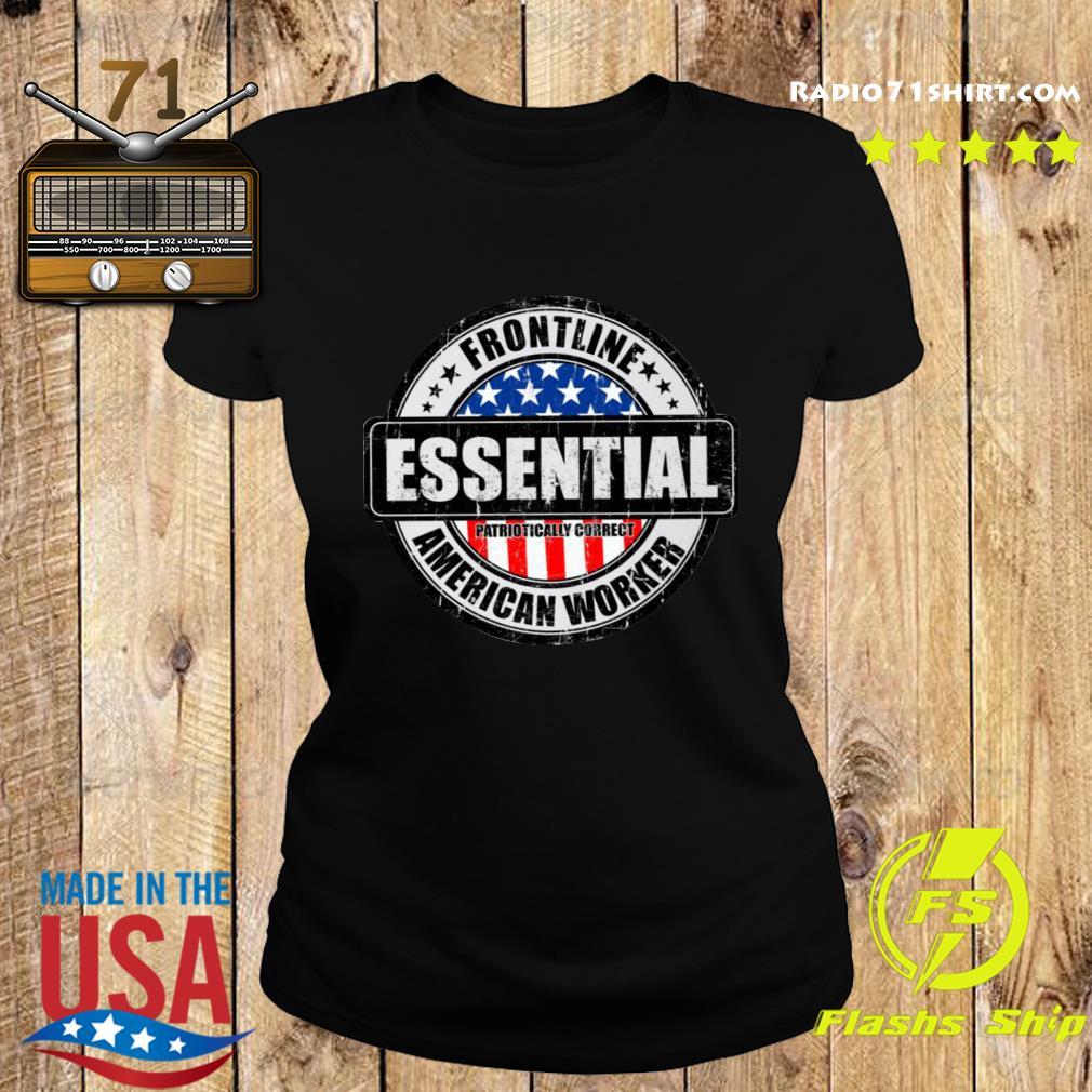 Frontline Essential American Worker Shirt Ladies tee
