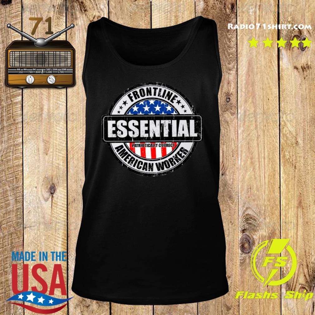 Frontline Essential American Worker Shirt Tank top