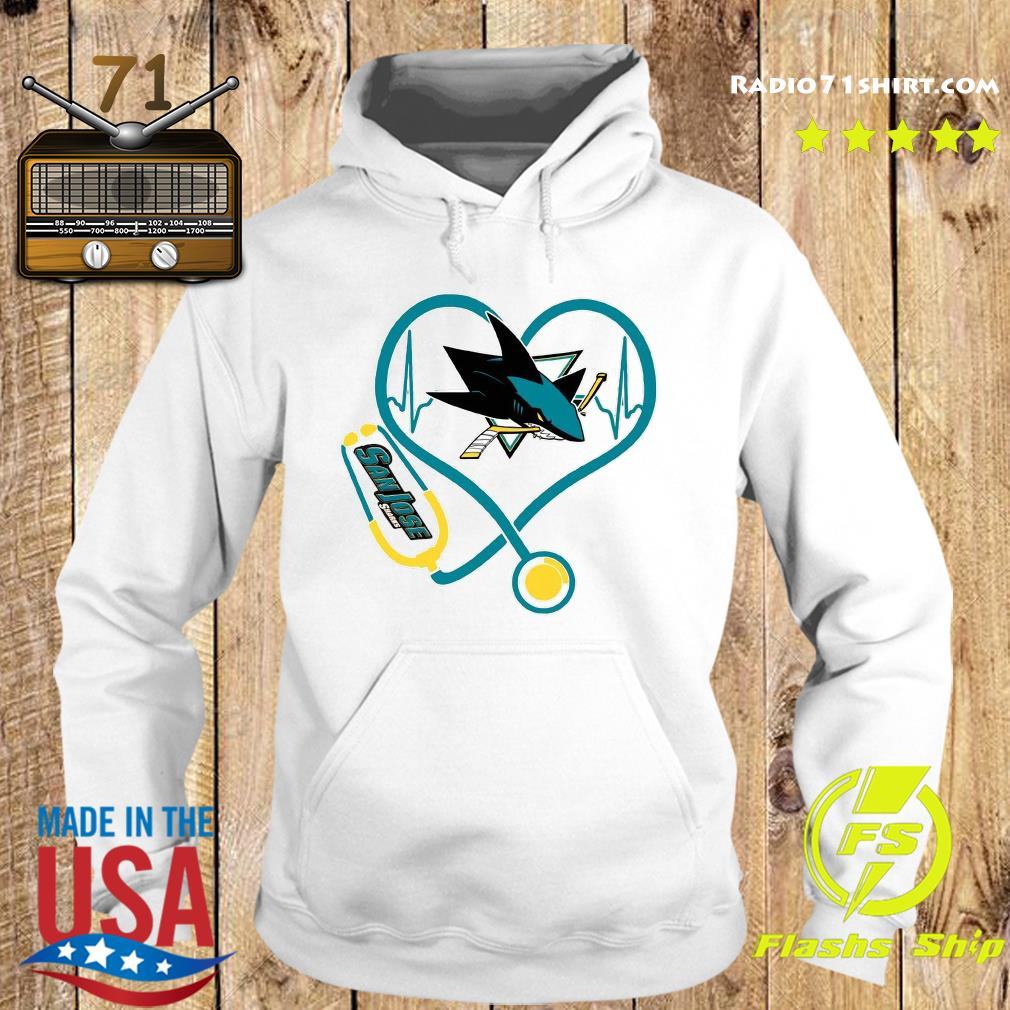 Heart Nurse San Jose Sharks Shirt Hoodie