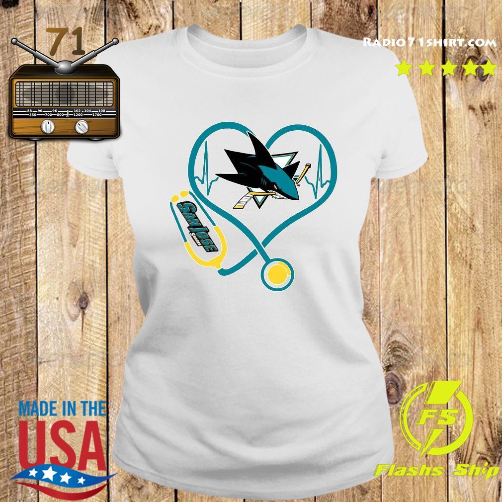 Heart Nurse San Jose Sharks Shirt Ladies tee