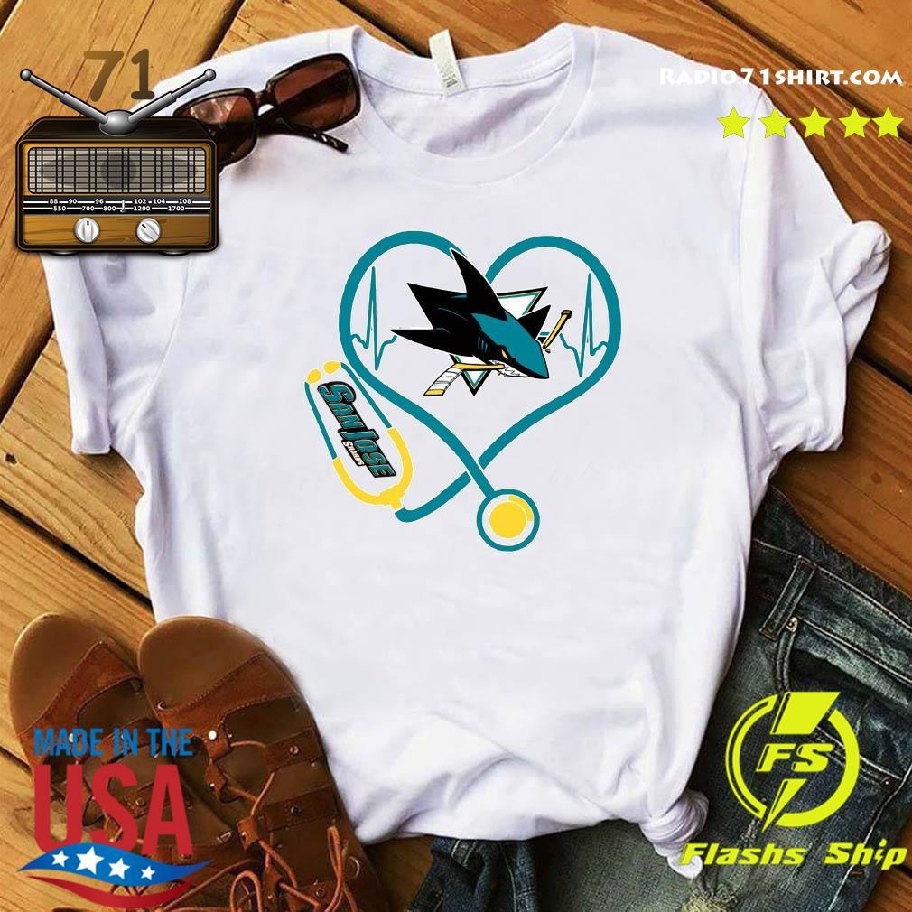 Heart Nurse San Jose Sharks Shirt