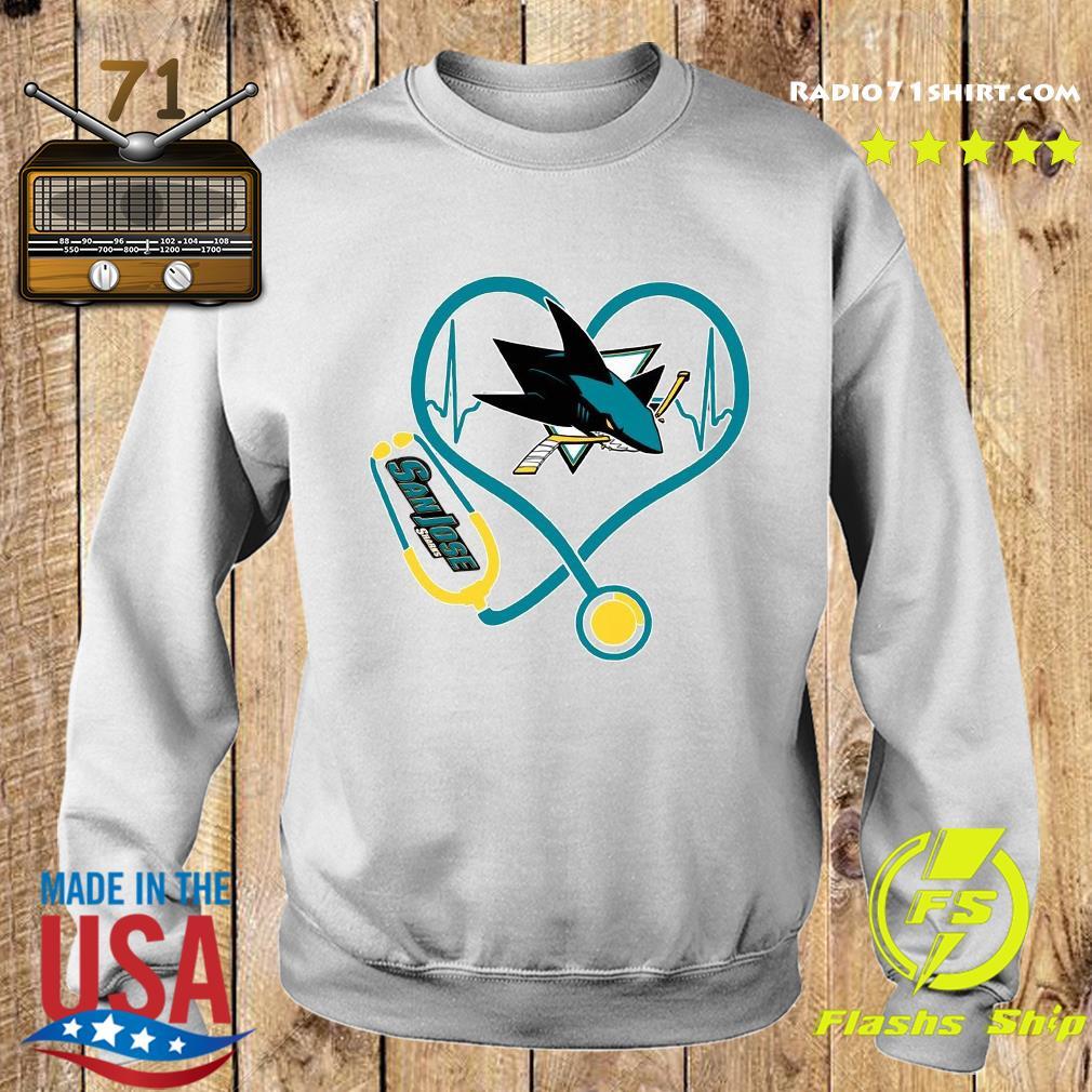 Heart Nurse San Jose Sharks Shirt Sweater