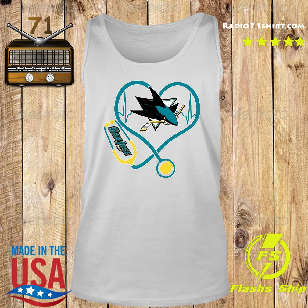 Heart Nurse San Jose Sharks Shirt Tank top