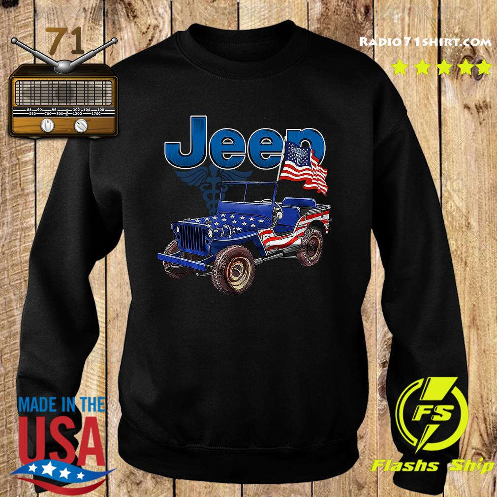 Jeep Car American Flag Shirt Sweater