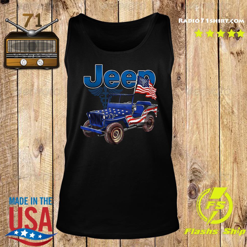 Jeep Car American Flag Shirt Tank top