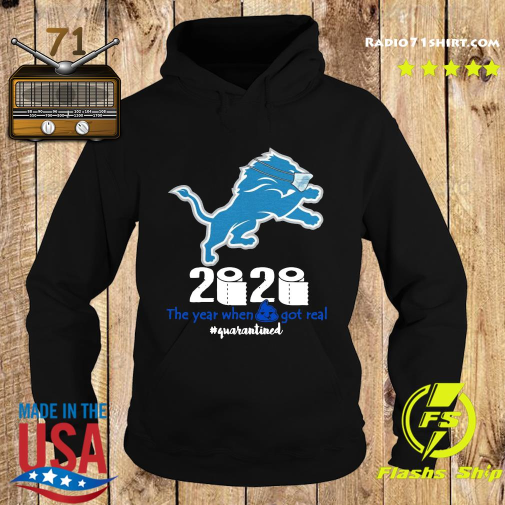 Lion Face Mask 2020 Toilet Paper The Year When Shit Got Real Quarantined Shirt Hoodie