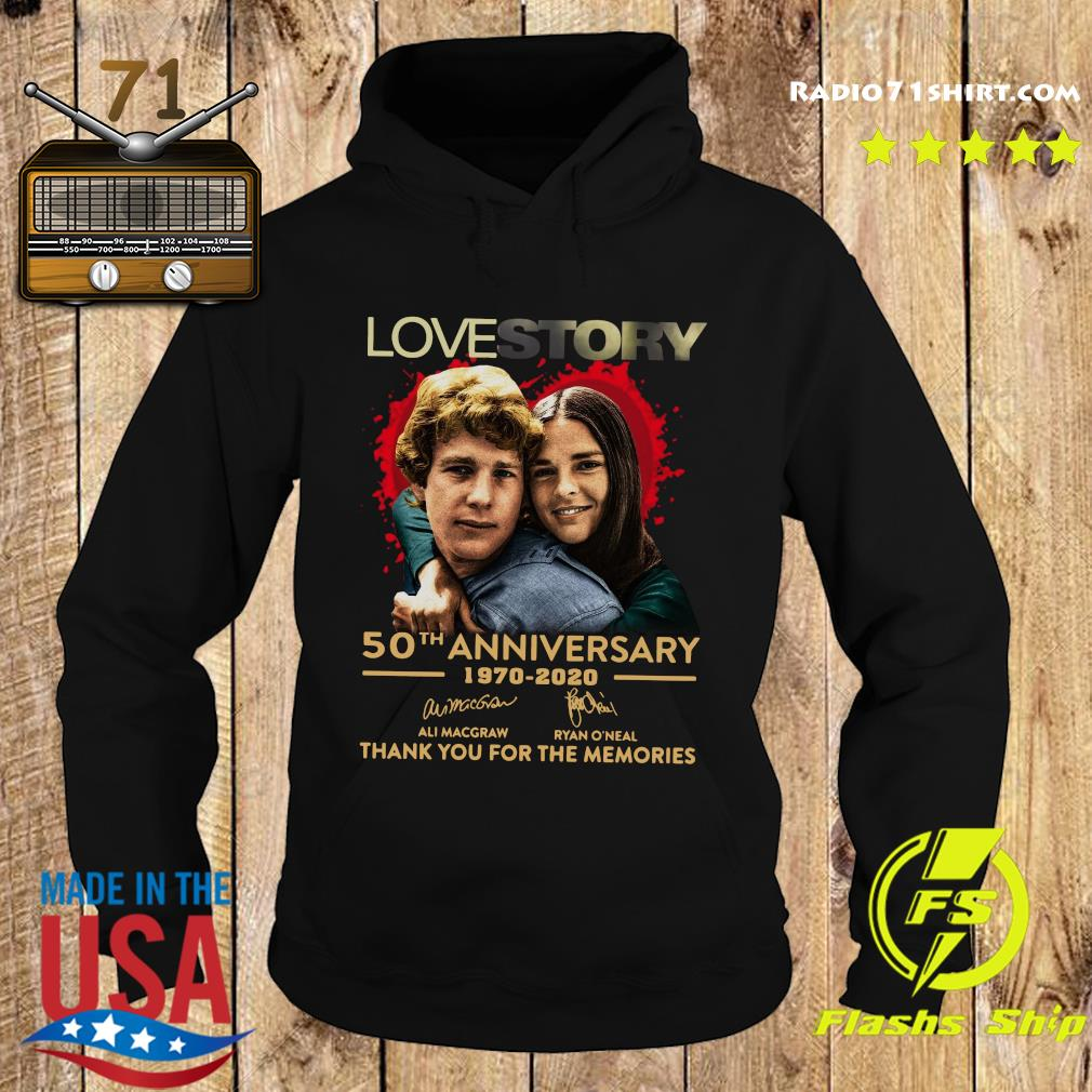 Love Story 50th Anniversary 1970 2020 Signatures Thank You For The Memories Shirt Hoodie