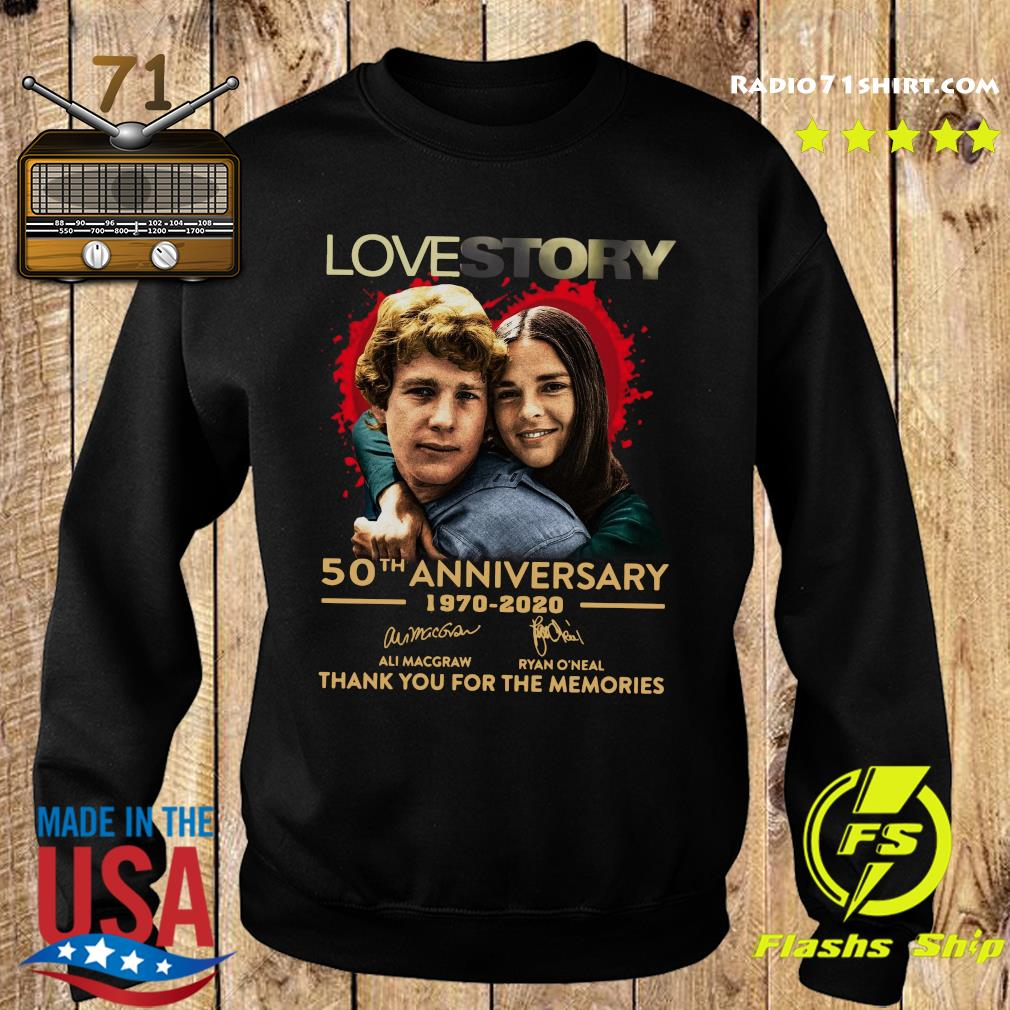 Love Story 50th Anniversary 1970 2020 Signatures Thank You For The Memories Shirt Sweater