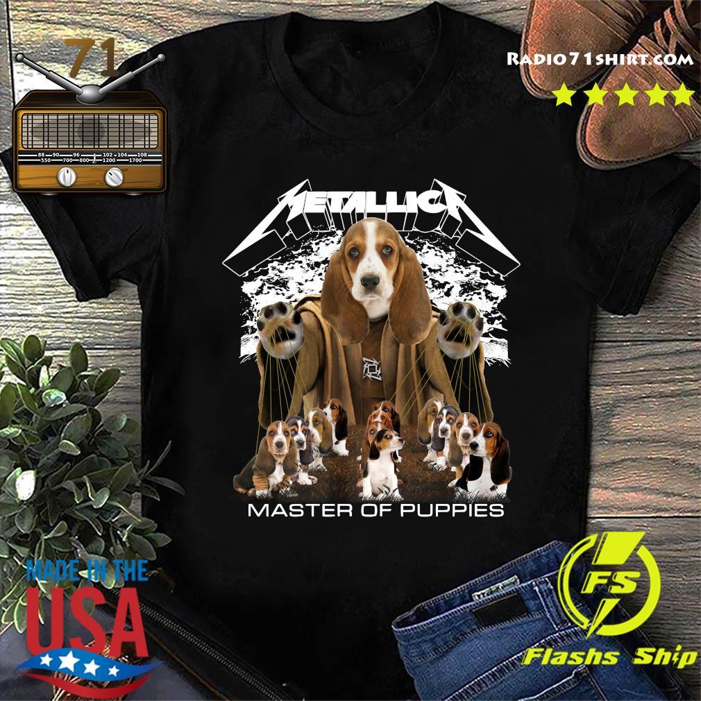 Metallica Basset Hound Puppy Master Of Puppies Shirt