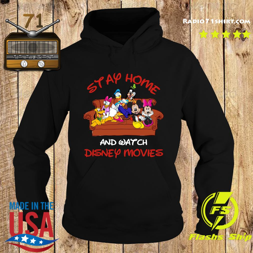 Mickey And Friends Stay Home And Watch Disney Movie Covid-19 Shirt Hoodie