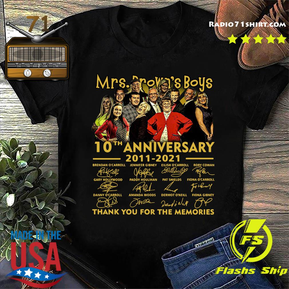 Mrs.Brown_s Boys 10th Anniversary 2011 2021 Thank You For The Memories Signatures Shirt