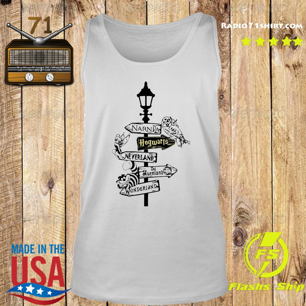 Narnia Hogwarts Neverland Queensland Wonderland Shirt Tank top