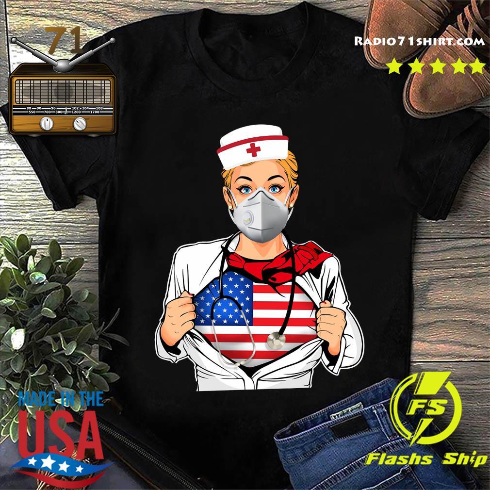 Nurse Strong American Blood Inside Me Sars Covid-19 Shirt
