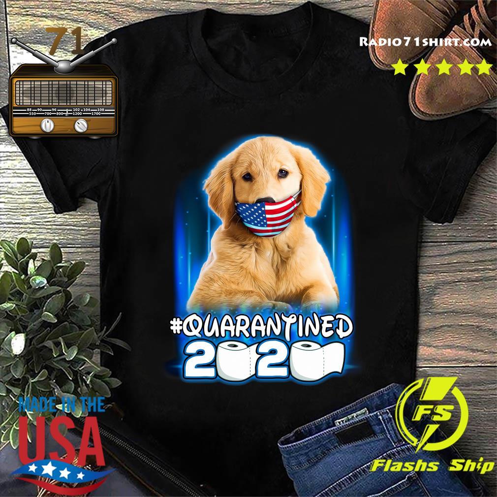 Official Golden Retriever Face Mask American Flag Quarantined 2020 Toilet Paper Shirt