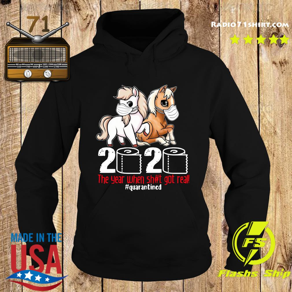 Pink Horse And Brown Horse 2020 Toilet Paper The Year When Shit Got Real Quarantined Shirt Hoodie