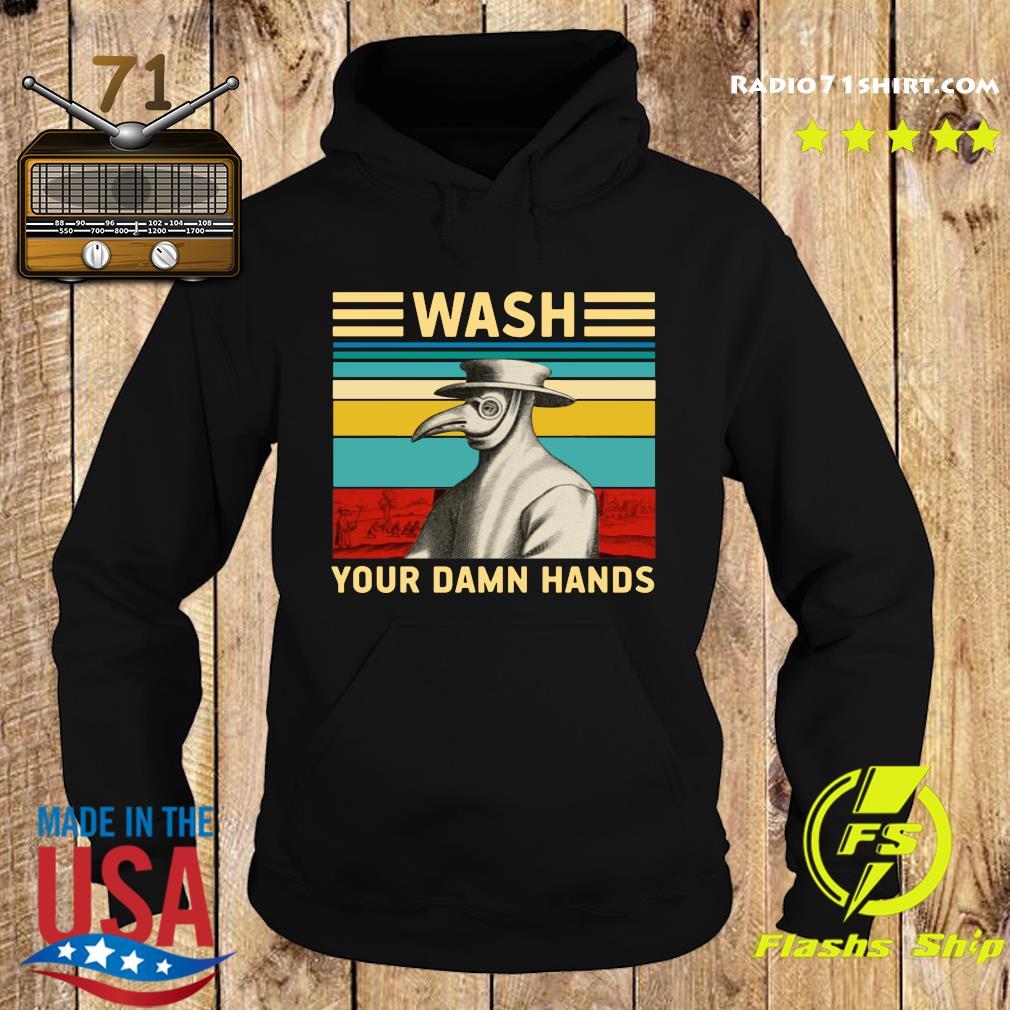 Plague Doctor Wash Your Damn Hands Shirt Hoodie
