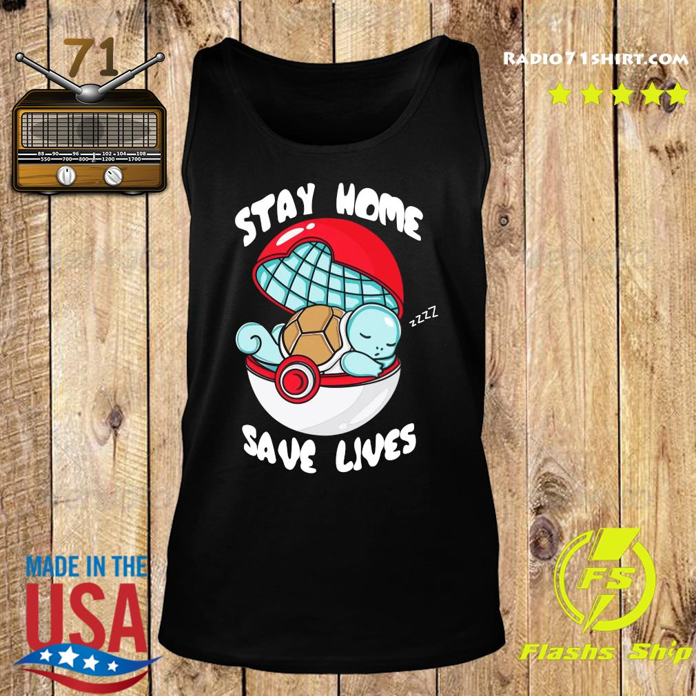 Pocket Pokemon Stay Home Save Lives Shirt Tank top