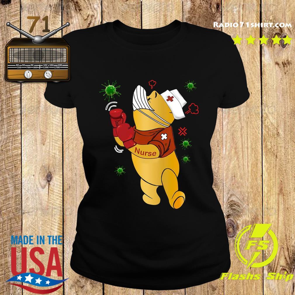 Pooh Nurse Boxing Coronavirus s Ladies tee