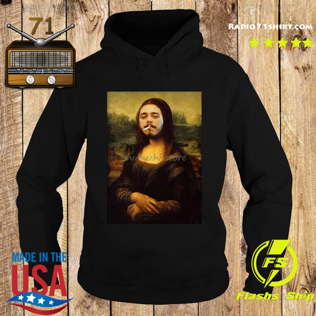 Post Malone Mona Lisa Smoking Shirt Hoodie