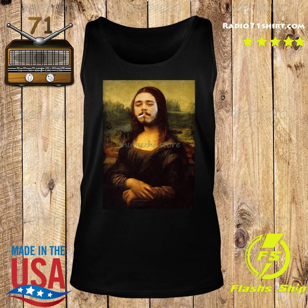 Post Malone Mona Lisa Smoking Shirt Tank top