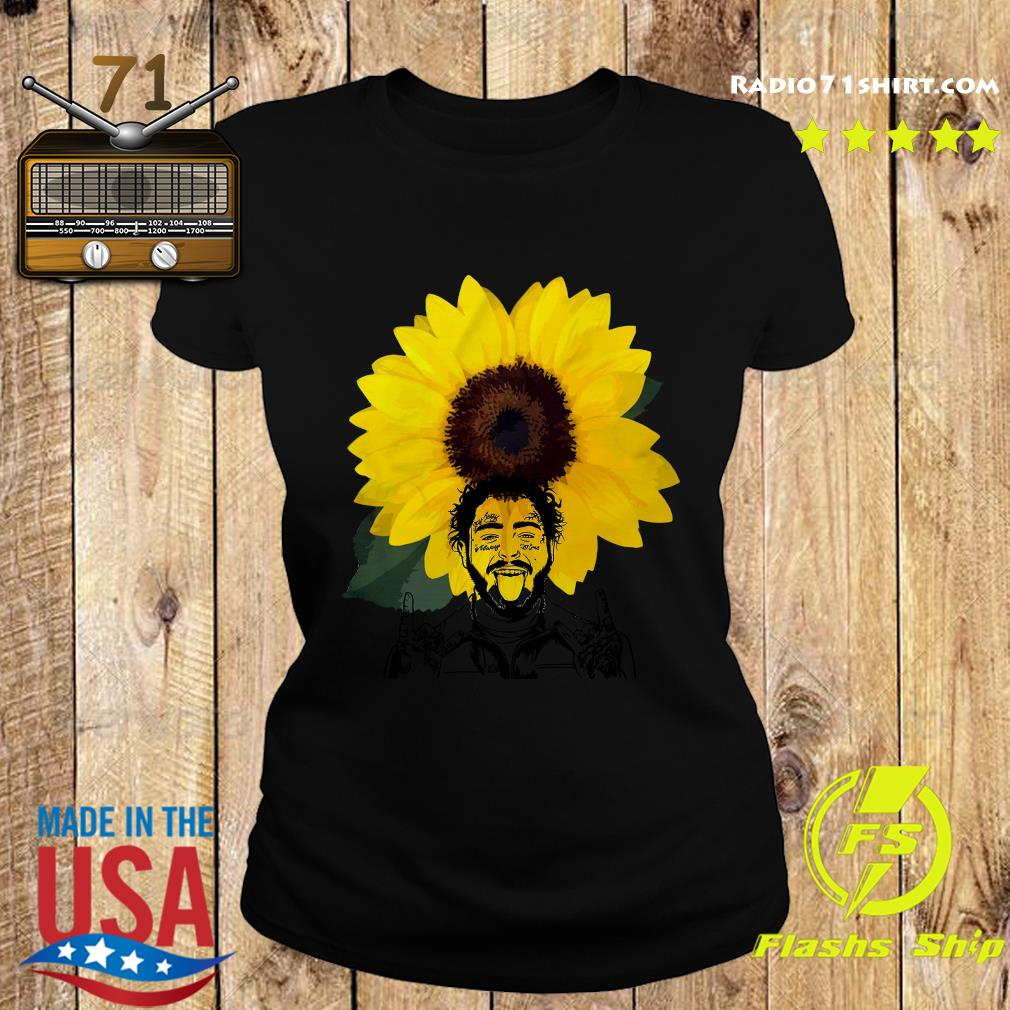 Post Malone Sunflowers Shirt Ladies tee