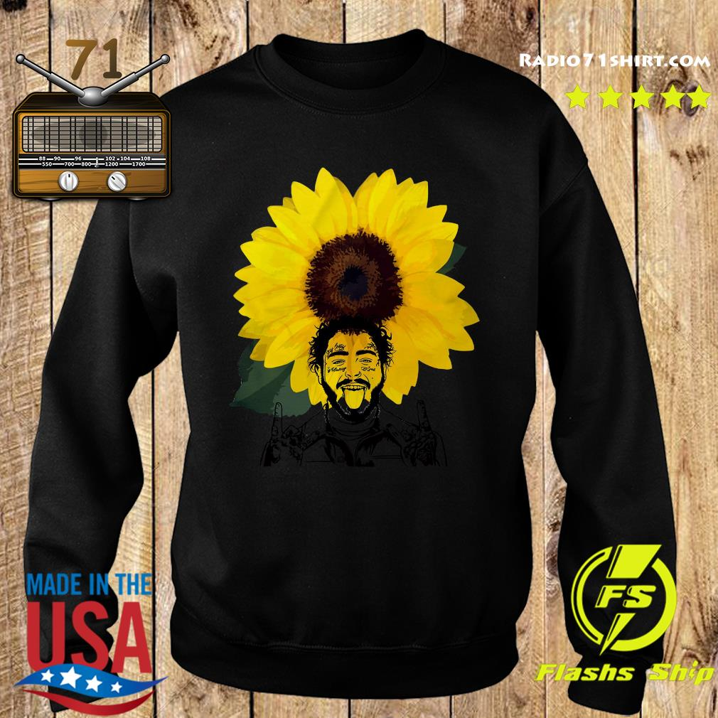 Post Malone Sunflowers Shirt Sweater