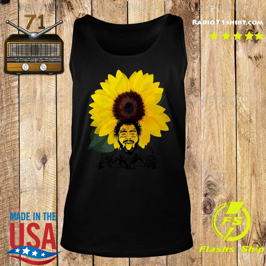Post Malone Sunflowers Shirt Tank top