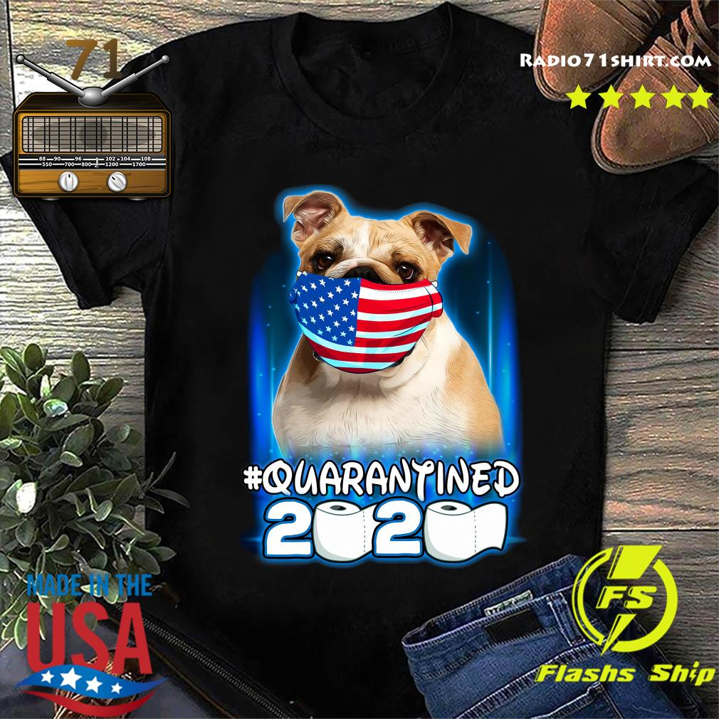 Pug Face Mask American Flag Quarantined 2020 Toilet Paper Shirt