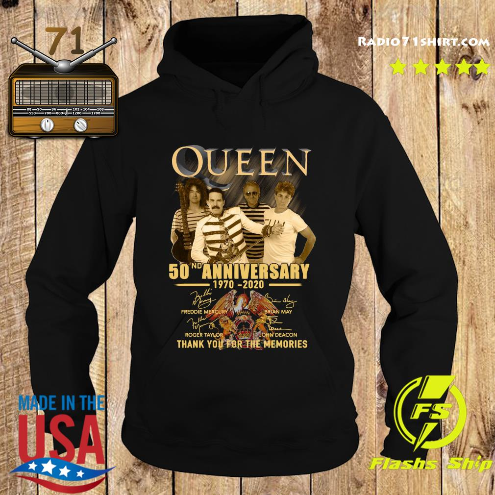 Queen 50nd Anniversary 1970 2020 Thank You For The Memories Signatures Shirt Hoodie