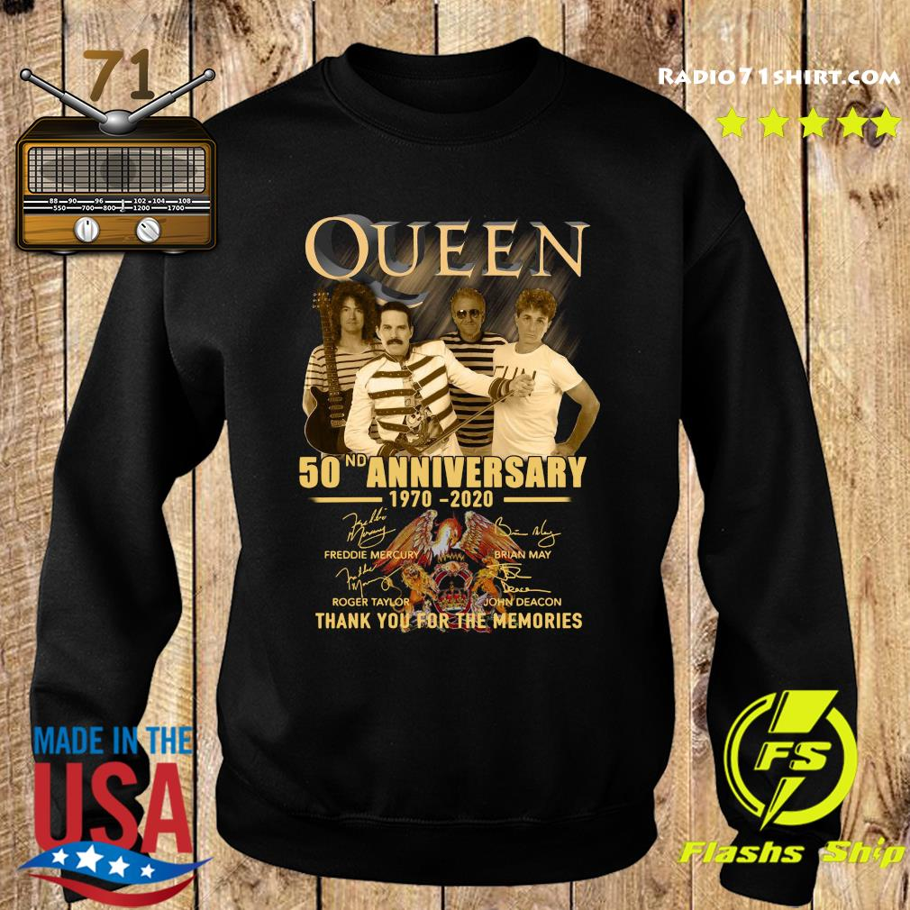 Queen 50nd Anniversary 1970 2020 Thank You For The Memories Signatures Shirt Sweater