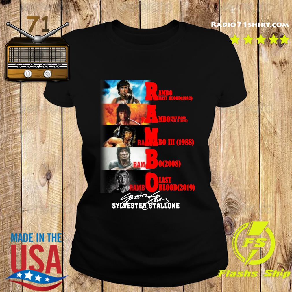 Rambo All Season Sylvester Stallone Signature Shirt Ladies tee