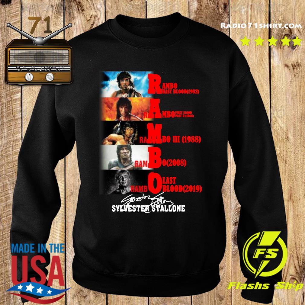 Rambo All Season Sylvester Stallone Signature Shirt Sweater