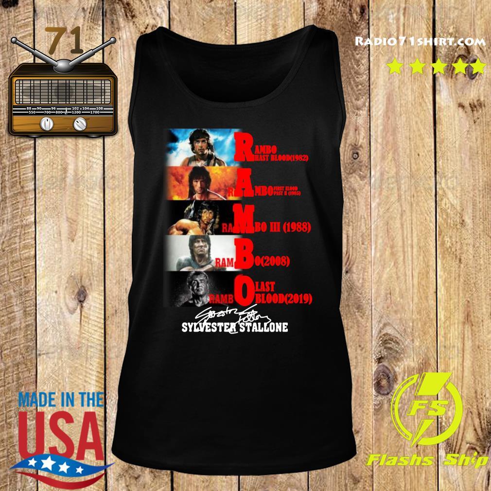 Rambo All Season Sylvester Stallone Signature Shirt Tank top
