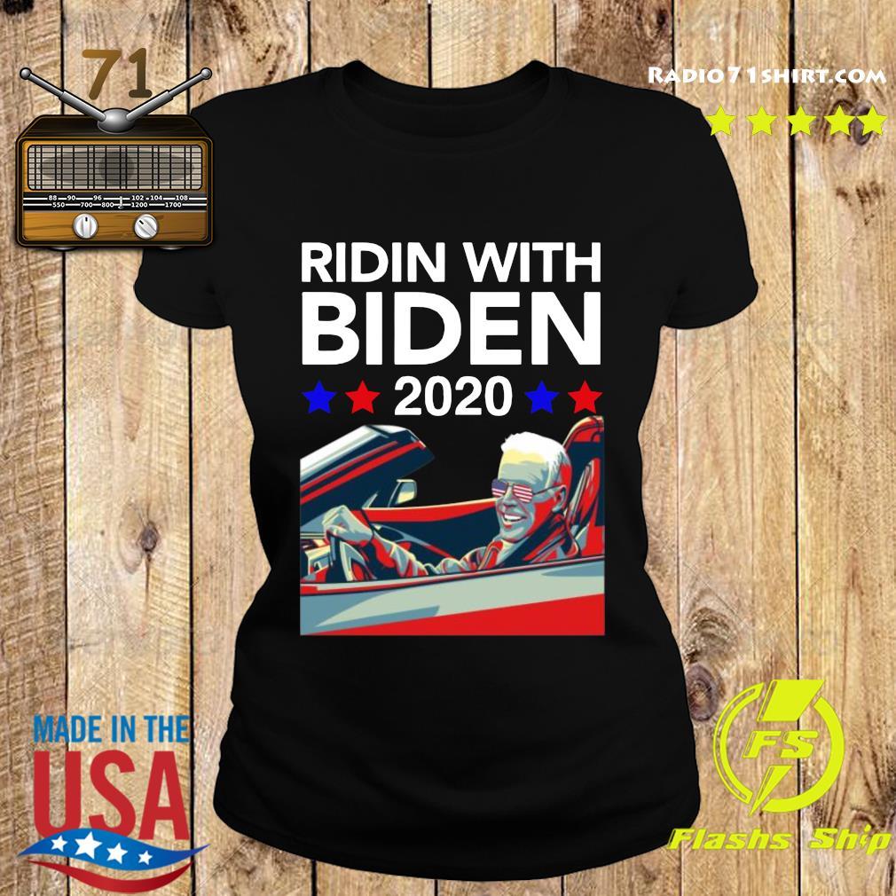 Ridin With Biden Vote Joe Biden 2020 Shirt Ladies tee