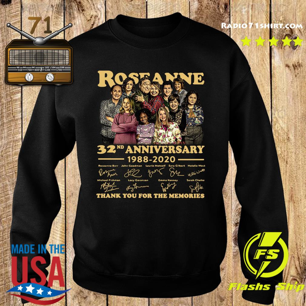 Roseanne 32nd Anniversary 1988 2020 Signature Thank You For The Memories Shirt Sweater