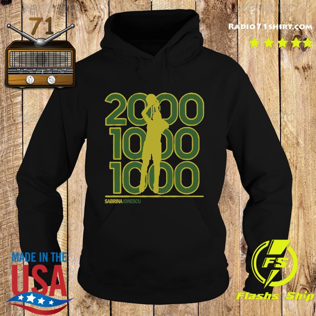 Sabrina Ionescu 2,000-1,000-1,000 Club Shirt Hoodie