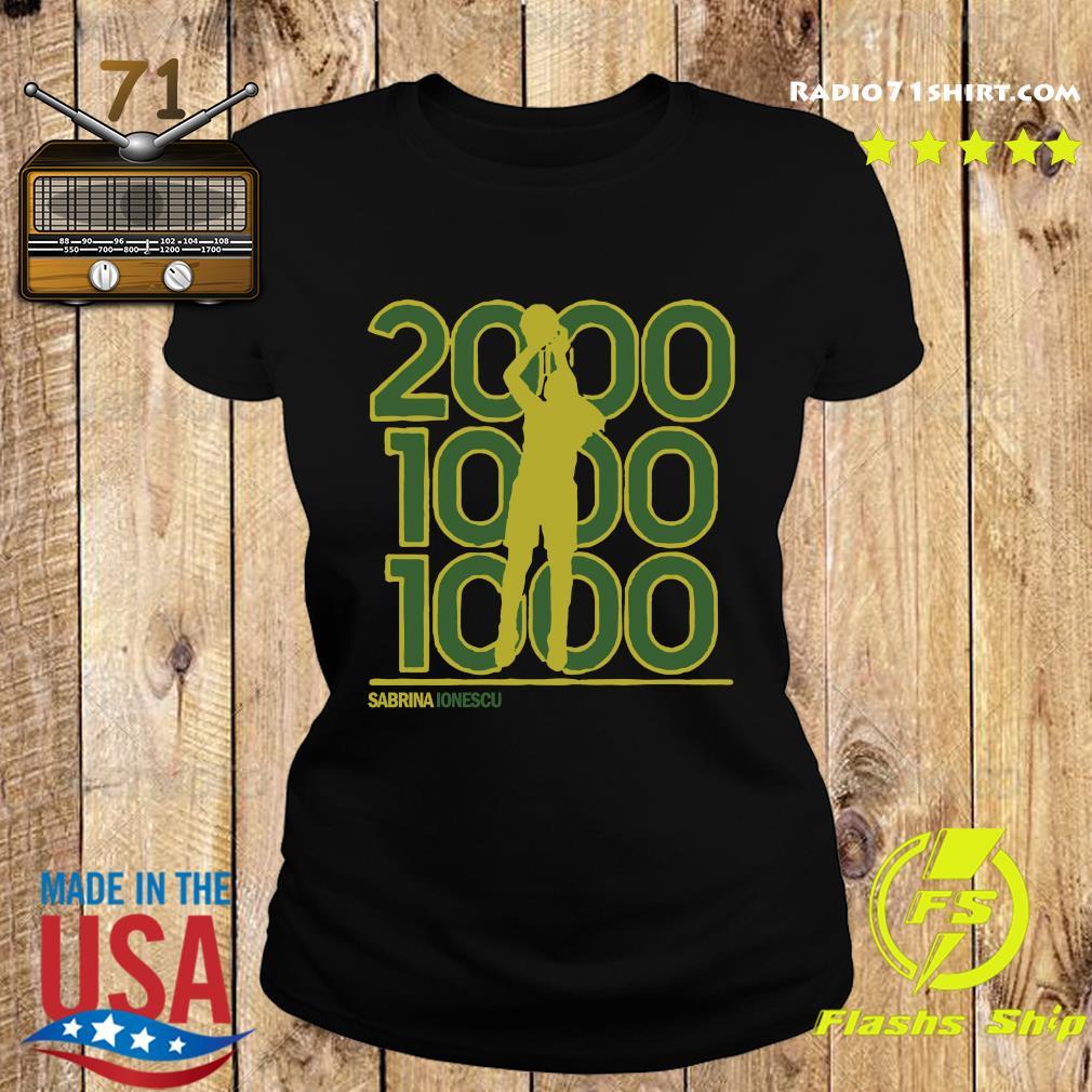 Sabrina Ionescu 2,000-1,000-1,000 Club Shirt Ladies tee