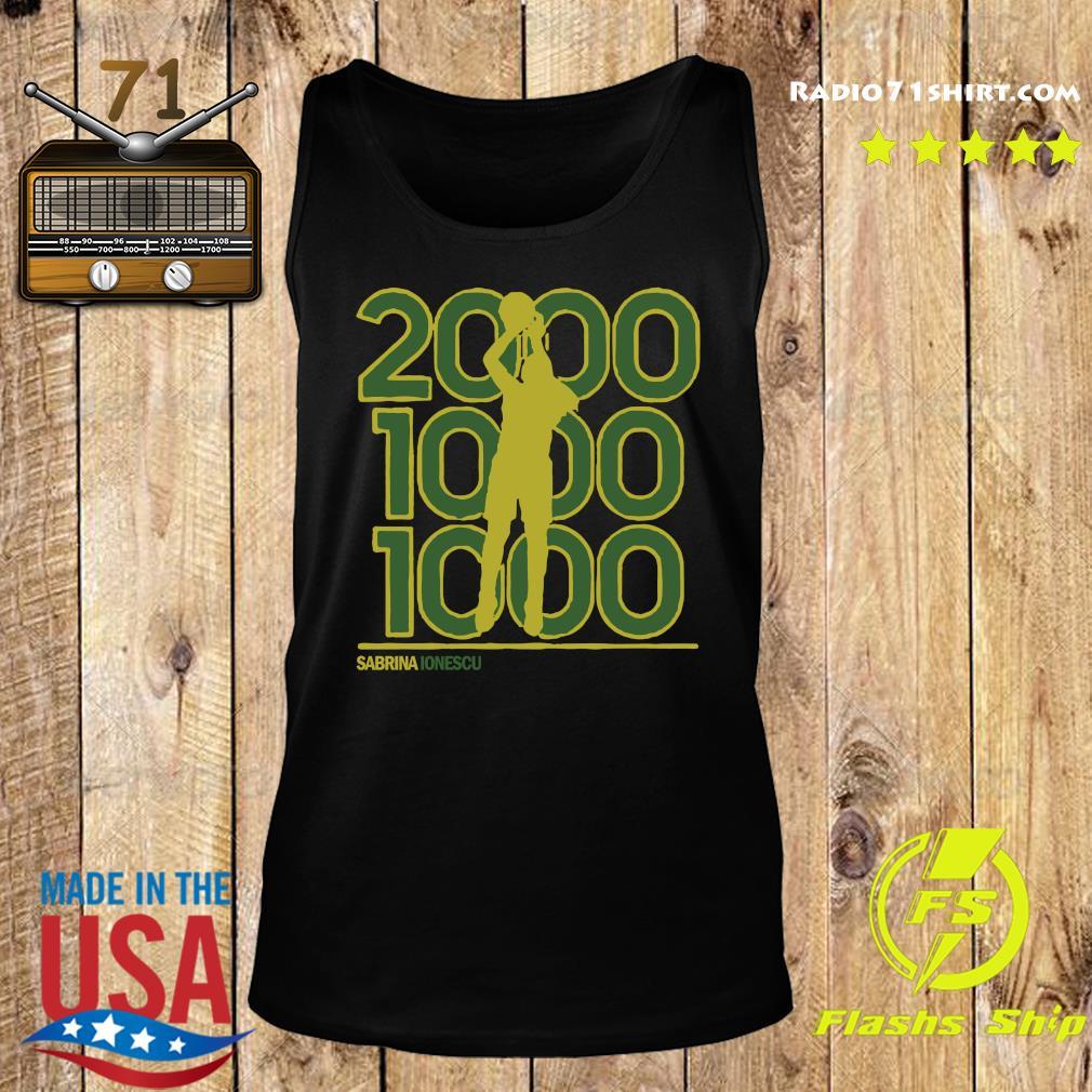 Sabrina Ionescu 2,000-1,000-1,000 Club Shirt Tank top