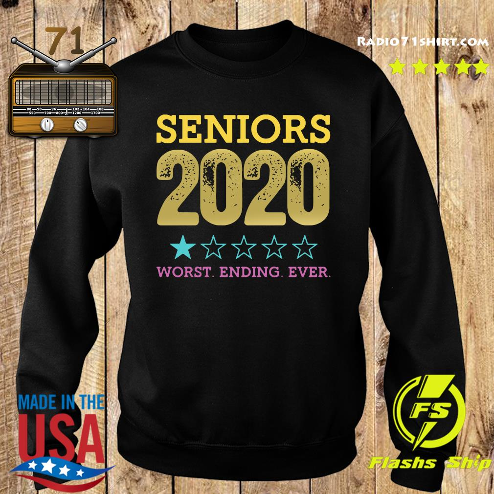 Seniors 2020 Worst Ending Ever Shirt – Class Of 2020 Graduation Tee Shirt Sweater