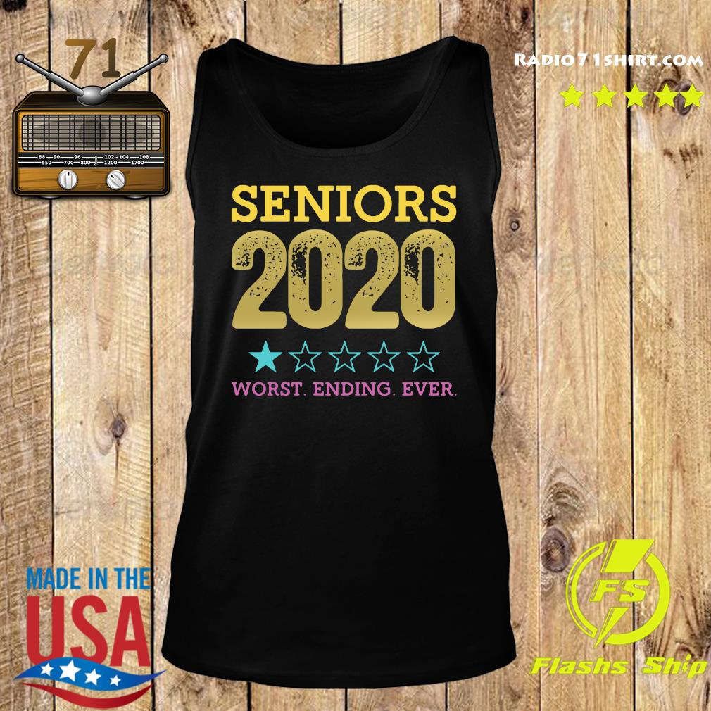 Seniors 2020 Worst Ending Ever Shirt – Class Of 2020 Graduation Tee Shirt Tank top