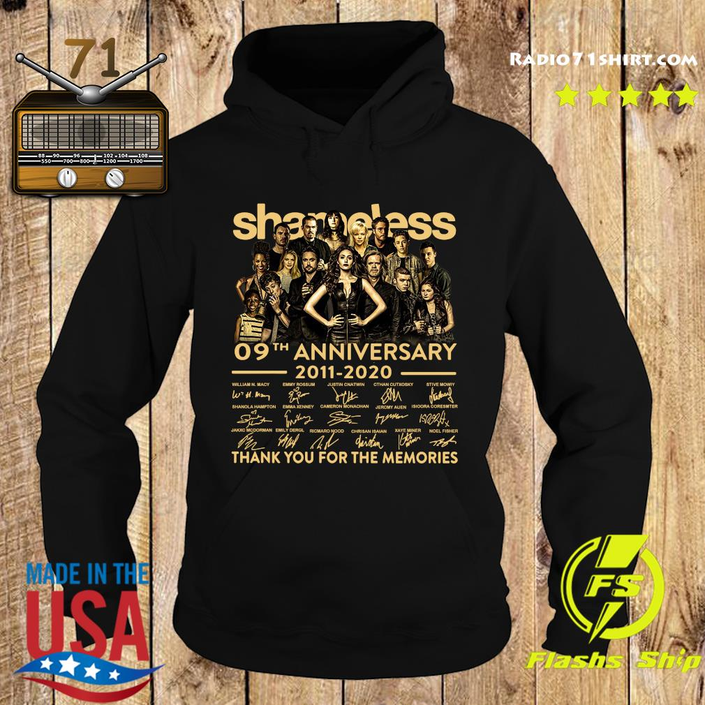 Shameless 09th Anniversary 2011 2020 Signature Thank You For The Memories Shirt Hoodie