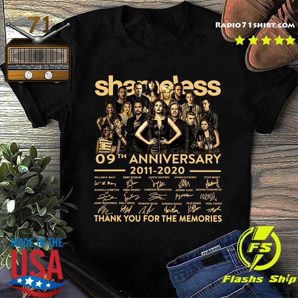 Shameless 09th Anniversary 2011 2020 Signature Thank You For The Memories Shirt
