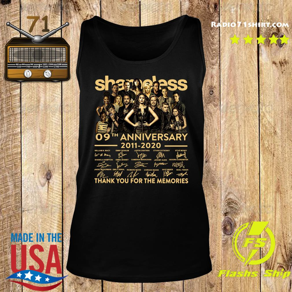Shameless 09th Anniversary 2011 2020 Signature Thank You For The Memories Shirt Tank top
