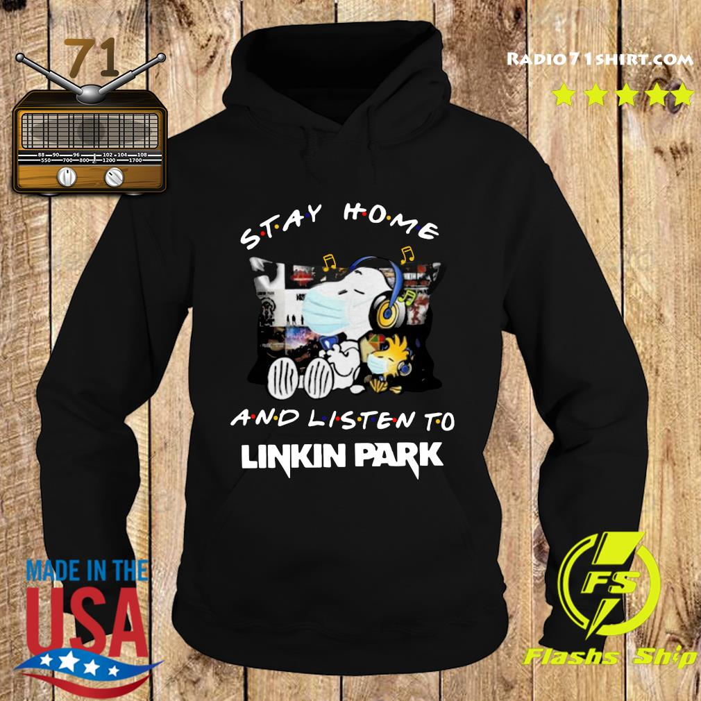 Snoopy And Woodstock Stay Home And Listen To Linkin Park Shirt Hoodie