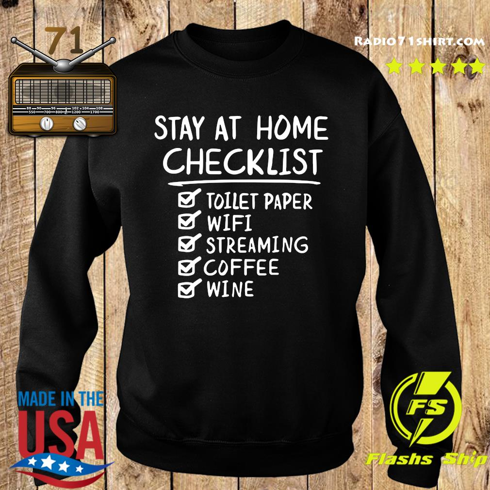 Stay At Home Checklist Letter Print Shirt Sweater