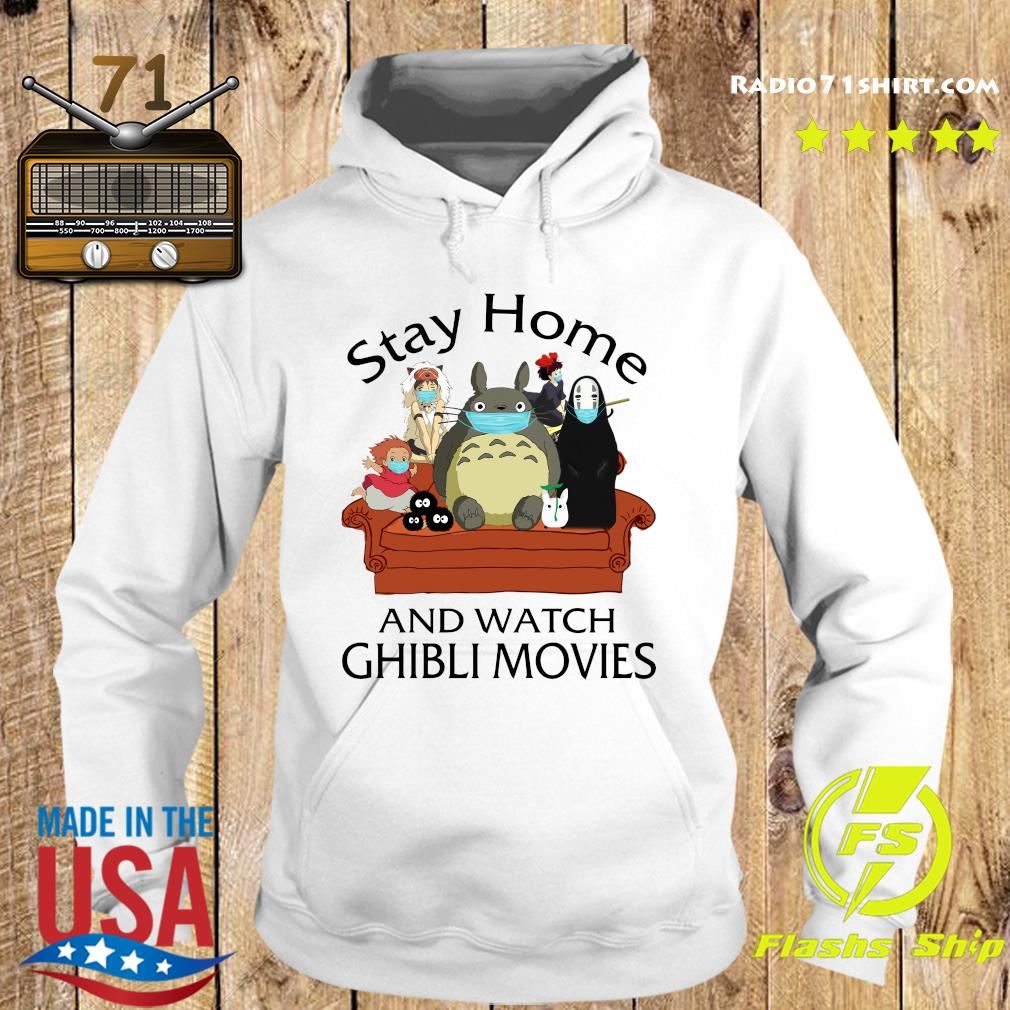 Stay Home And Watch Ghibli Movies Shirt Hoodie