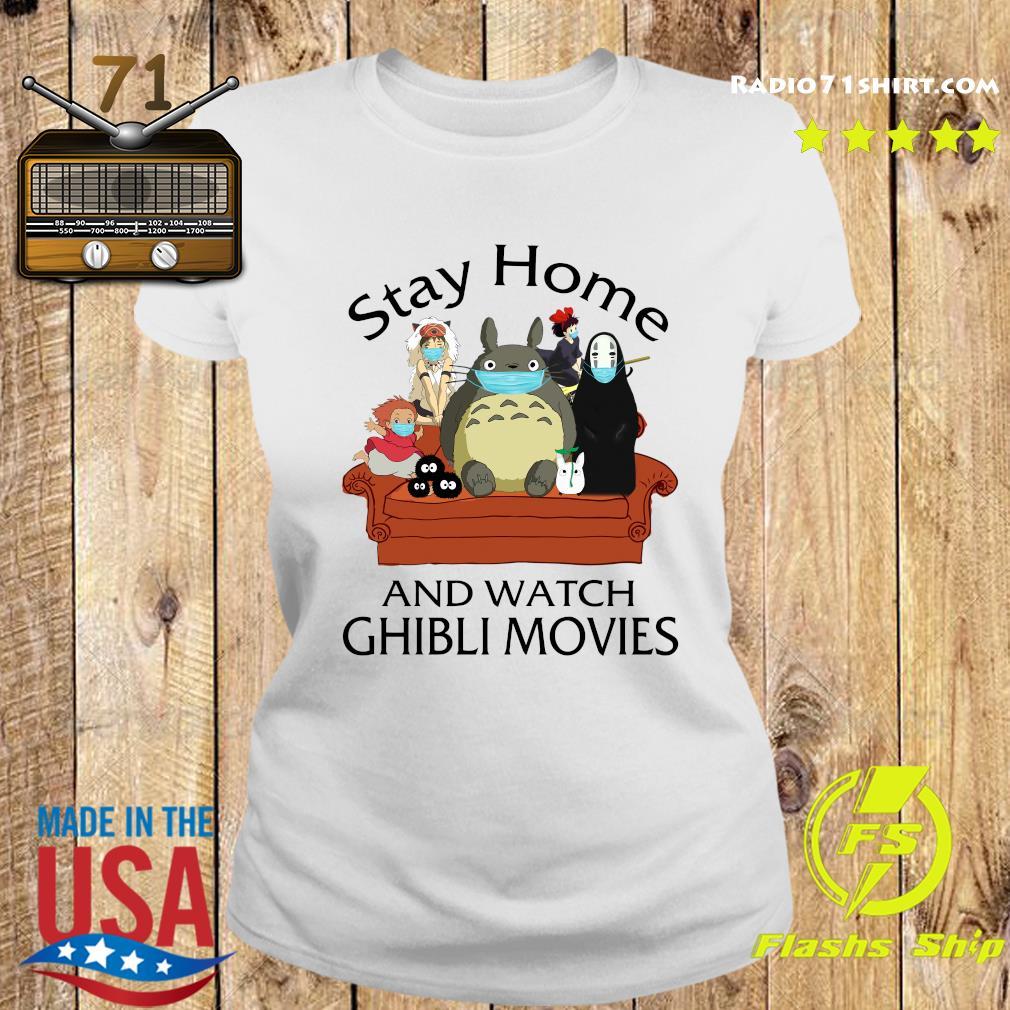 Stay Home And Watch Ghibli Movies Shirt Ladies tee