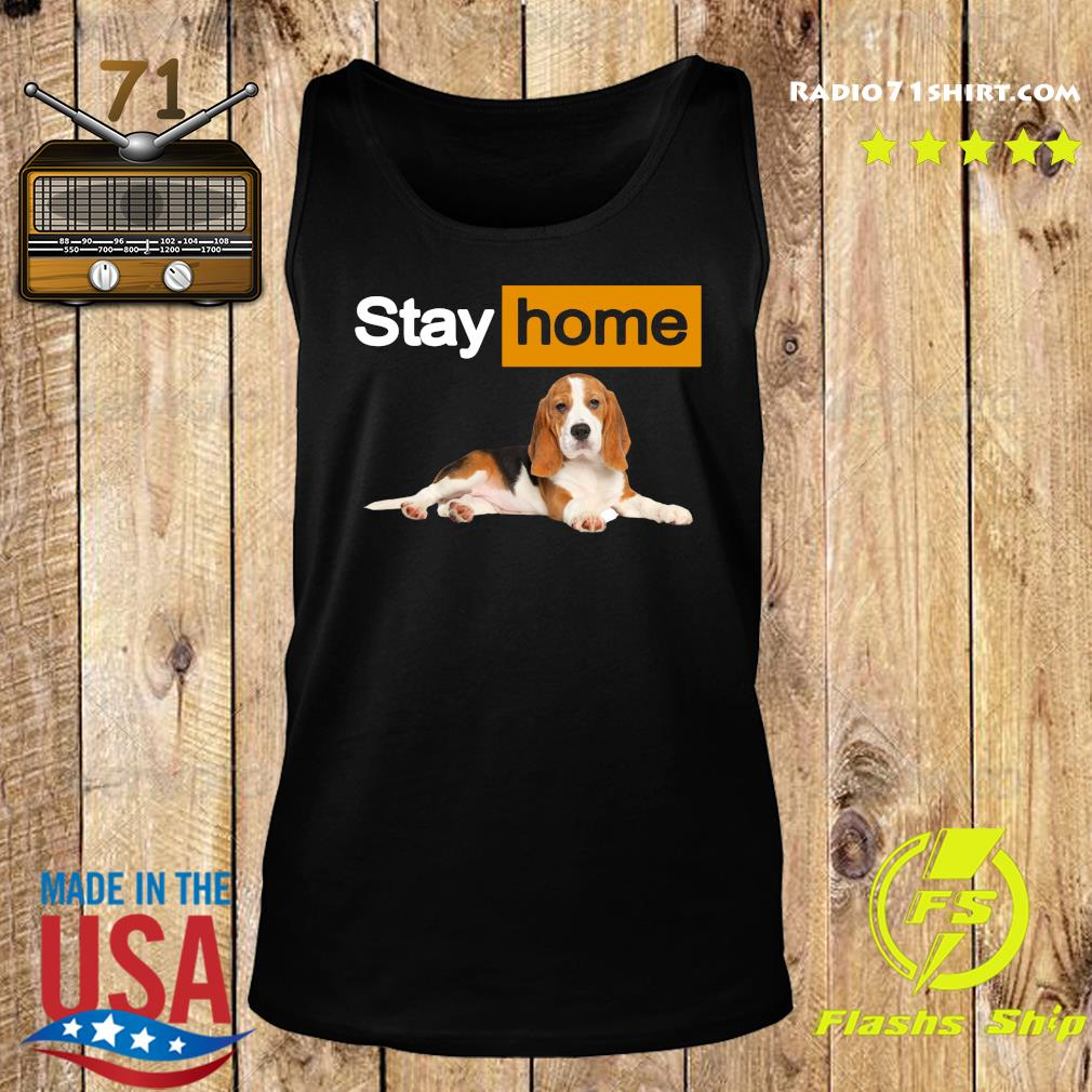 Stay Home Beagle Shirt Tank top
